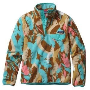 Patagonia Feather Patterned Synchilla Snap T